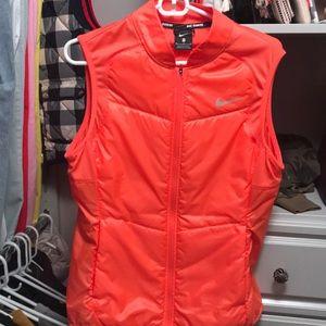 Nike Women's Running Orange Vest, Sz Medium